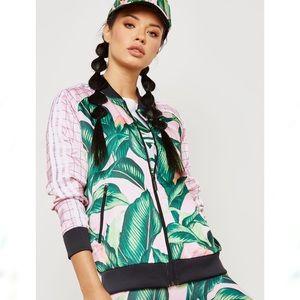 NEW Adidas x Farm Palm Leaf Zip Up Track Jacket S